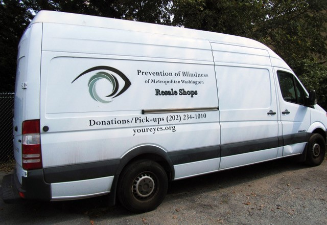 Photo of the Prevention of Blindness pick-up van