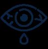 Dry eye icon